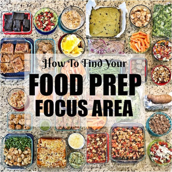 Learn how to find your food prep focus area. Are you ready to try meal prep but feel overwhelmed? Use these tips to figure out how to focus your first few food prep sessions.