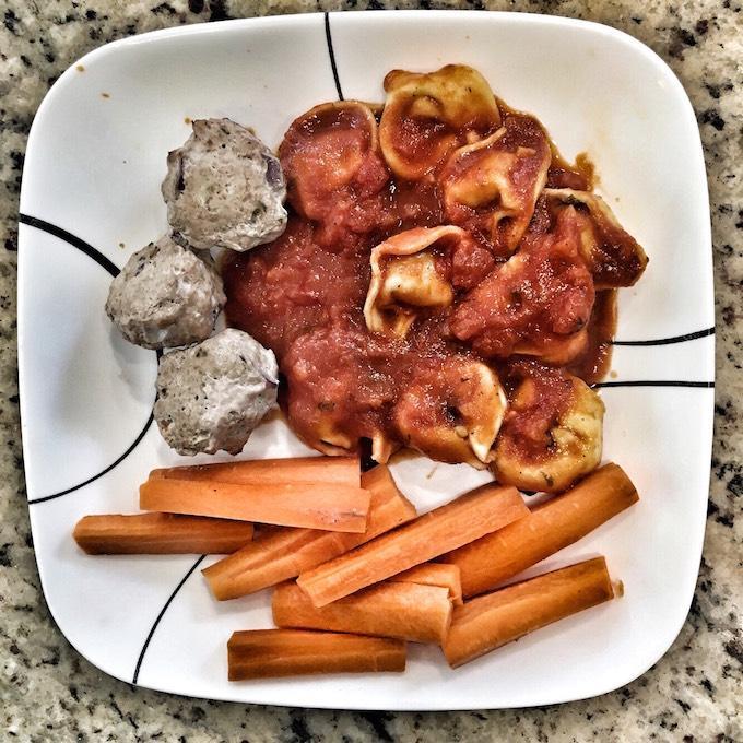 Meatballs and tortellini