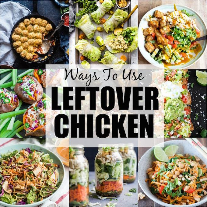 Looking for ways to use leftover chicken? Here are 30+ recipes that call for pre-cooked or rotisserie chicken to help you transform your leftovers into healthy new lunches or dinners!