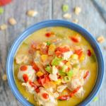 This Instant Pot Thai Peanut Chicken Soup recipe is dairy-free and packed with summer vegetables. Perfect for a healthy lunch or dinner in under 30 minutes.