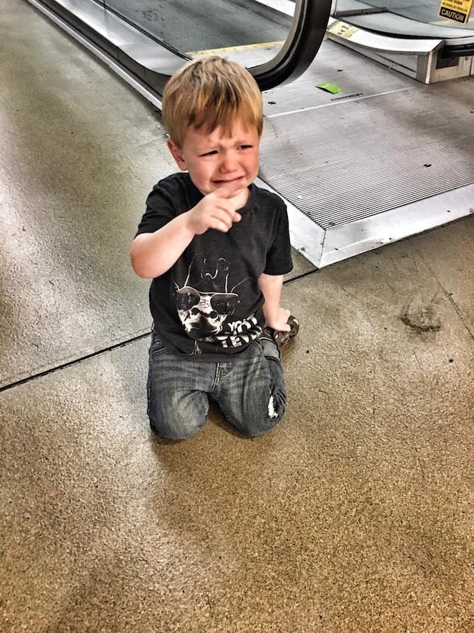 Toddler Meltdown At Airport