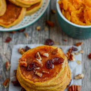 This Butternut Squash Pancakes recipeis an easy way to add some extra vegetables to breakfast! Made with just a few ingredients, they can be made ahead of time and reheated and also make a great, healthy snack!