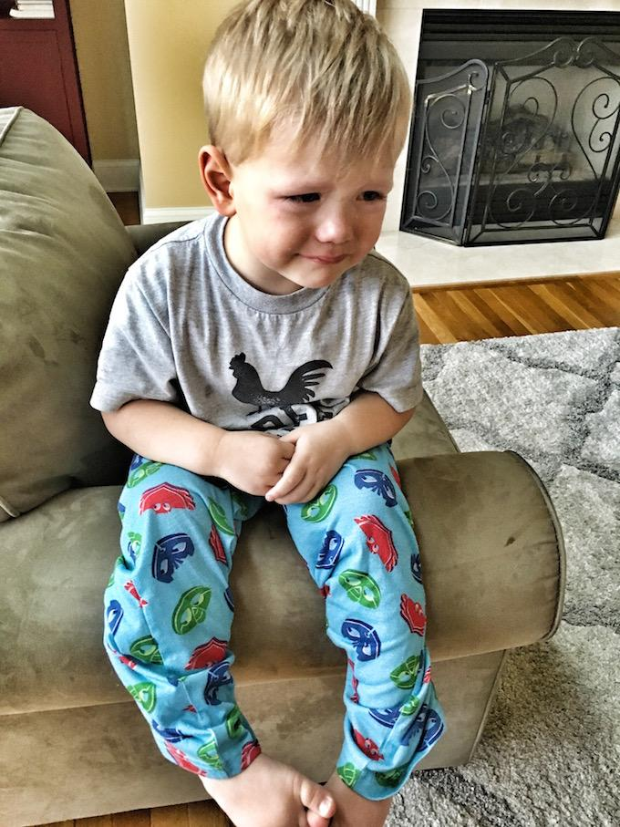 three year old crying