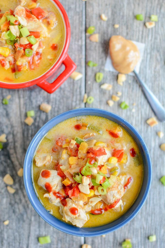 Instant Pot Thai Peanut Chicken Soup