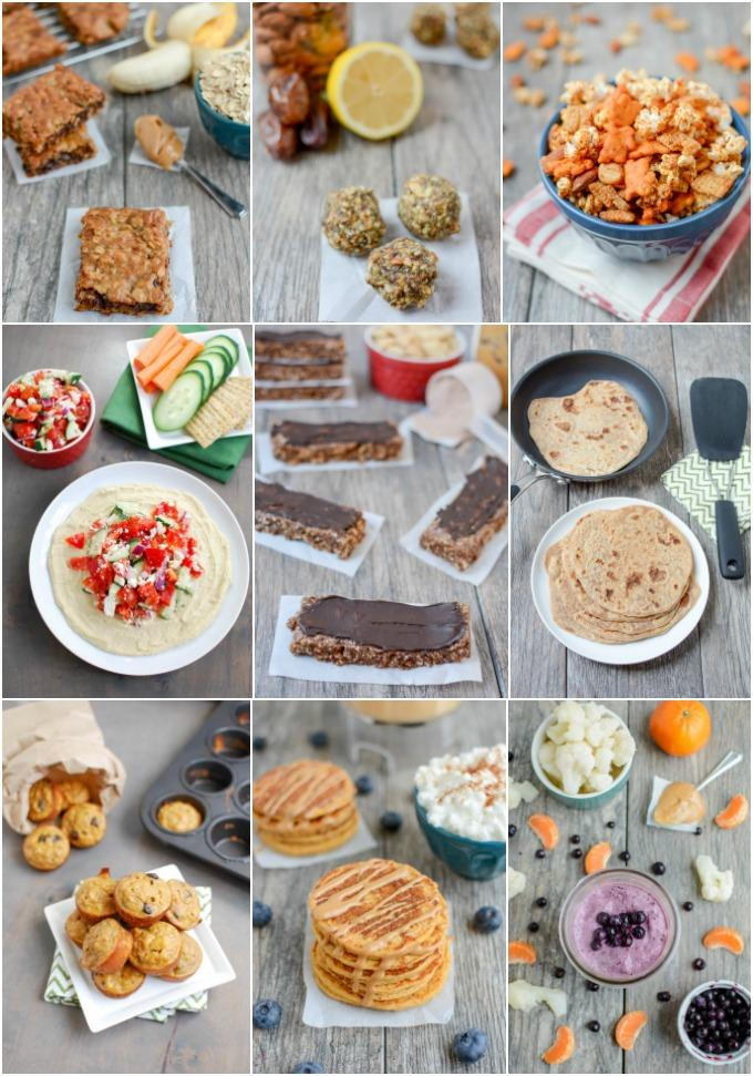 quick and healthy snack recipes