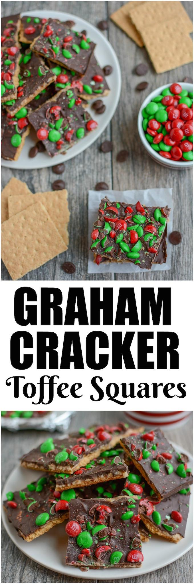 This Graham Cracker Toffee Squares recipe is a Christmas cookie tray staple! Everyone will love this classic dessert and it's the perfect quick, easy holiday treat!