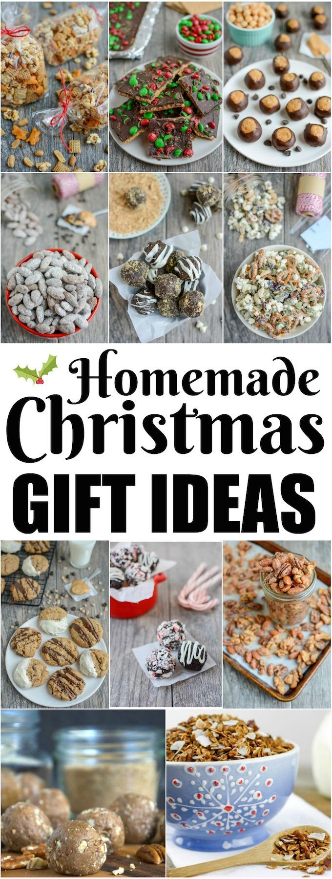 These Homemade Edible Christmas Gift Ideas are simple and delicious. Great for friends, coworkers, teachers and more this holiday season!