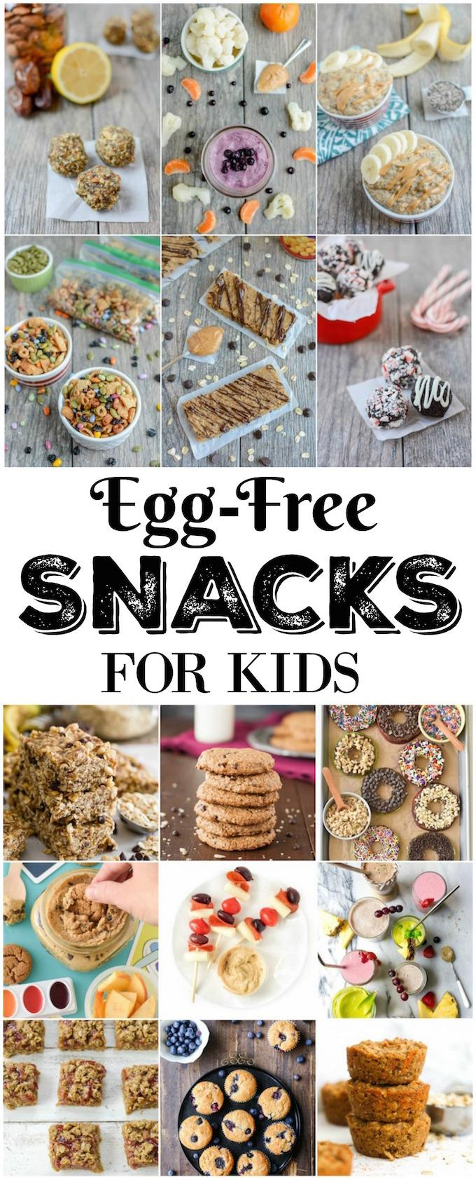 These Egg-Free Snacks for kids can be enjoyed by children with an egg allergy and those without. They also make a healthy snack for adults!