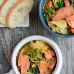 Instant Pot Salmon Tortellini Soup 2