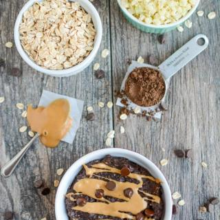 Chocolate Peanut Butter Cauliflower Oatmeal