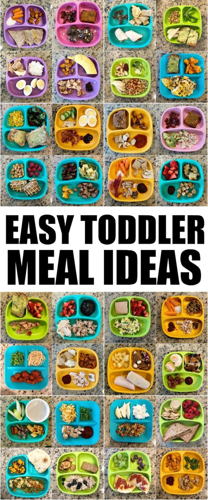 These Toddler Meal Ideas are simple, healthy and easy to assemble. Use these ideas to introduce your toddlers to new foods, help picky eaters and make meals more enjoyable for everyone.