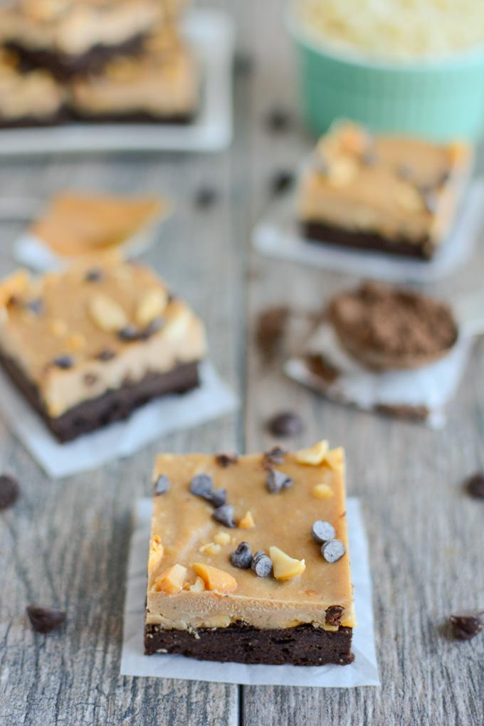 Frozen Layered Brownie Bars with sweet potato and cauliflower