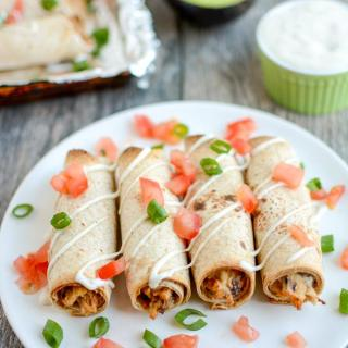 Baked Ranch Chicken Taquitos