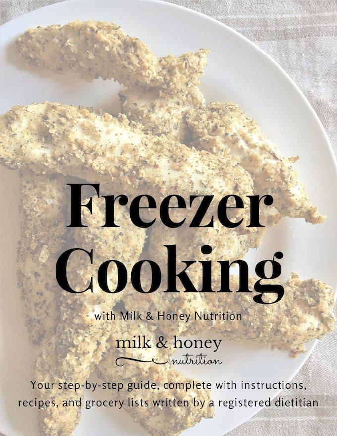 Freezer Cooking with Milk and Honey Nutrition