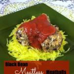 black bean meatless meatballs 1