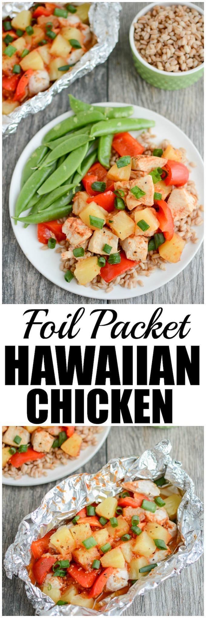 {AD} This Grilled Foil Packet Hawaiian Chicken Recipe is perfect for summer. Assemble the packets quickly, toss them on the grill and dinner is served! Plus, cleanup is a breeze and the leftovers are great for lunch!