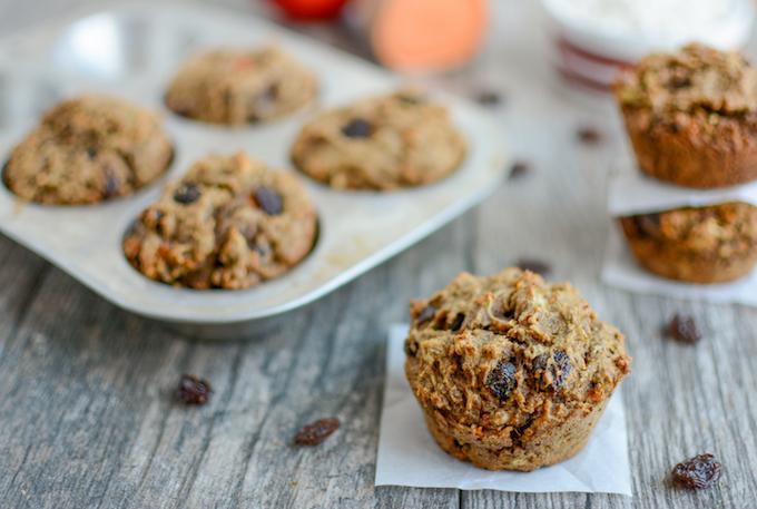 Cinnamon Raisin Sweet Potato Muffins (nut-free)