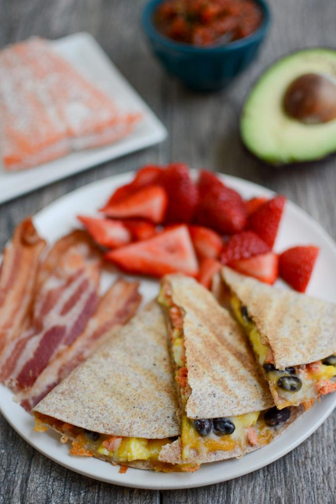 Salmon Breakfast Quesadillas