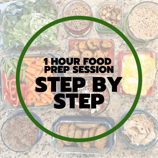 one hour food prep step by step
