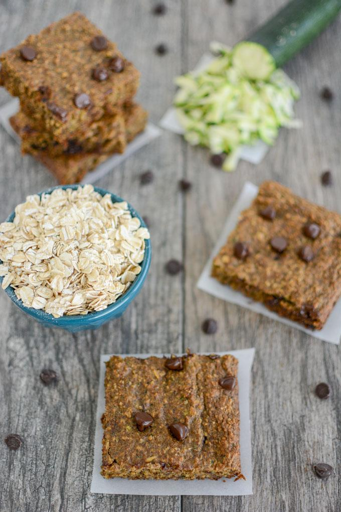 High fiber Zucchini Oat Bars
