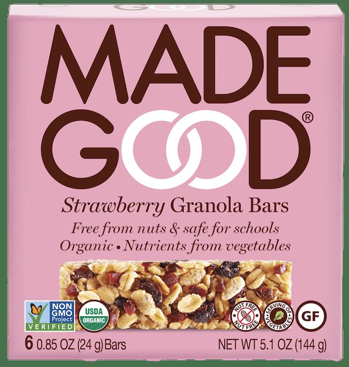 made good strawberry granola bars