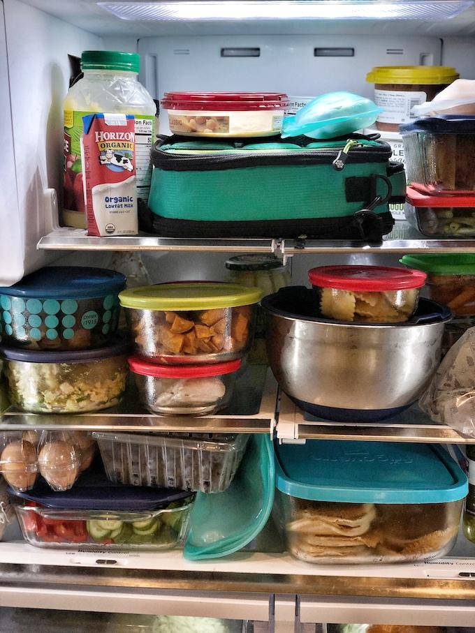 school lunch packing tips - lunch in fridge night before