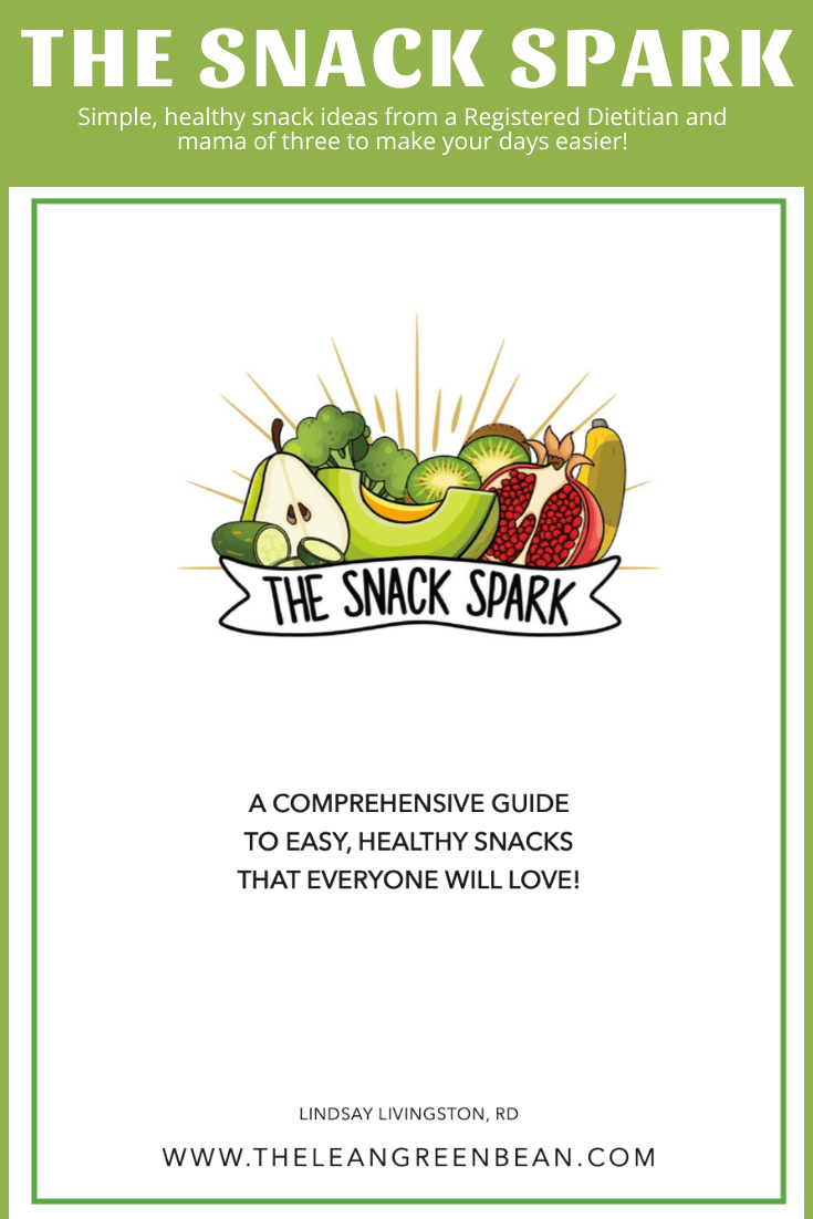 Looking for healthy snack ideas? This resource is for you. Created by a Registered Dietitan and full of quick and easy balanced snack ideas, both homemade and store-bought for kids and adults!