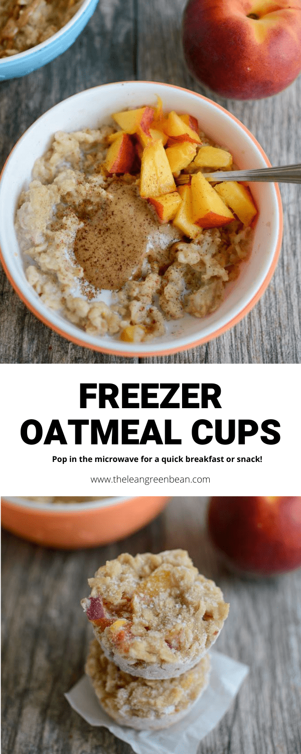 These Easy Freezer Prep Oatmeal Cups are the perfect recipe for a make-ahead breakfast. They're easy to customize and a great way to use those summer peaches!
