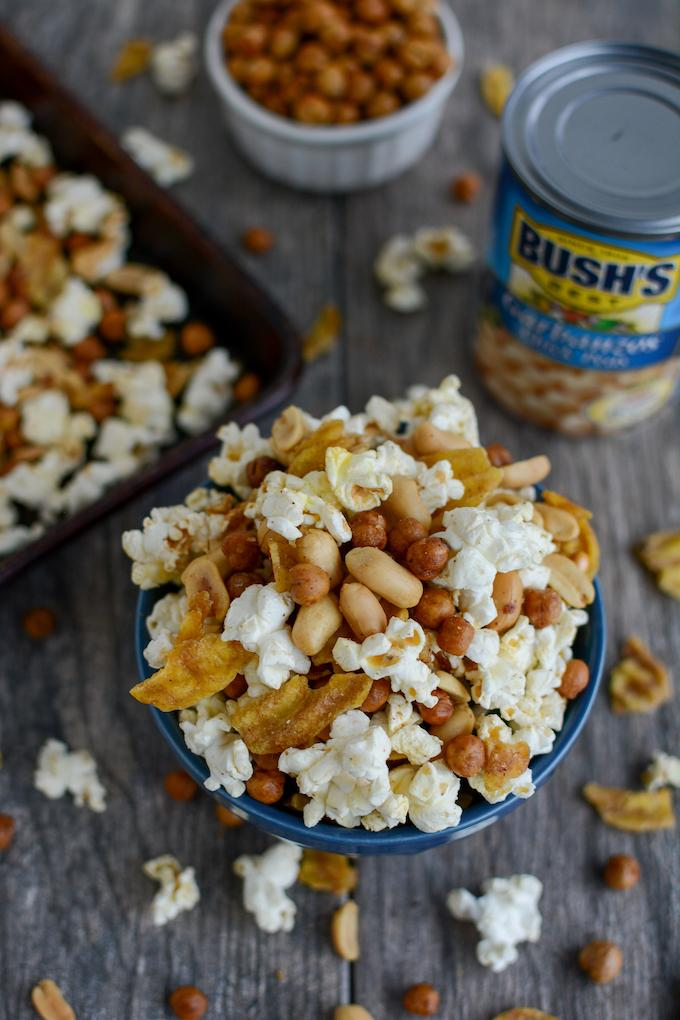 Roasted Chickpea Snack Mix - sweet, spicy and crunchy