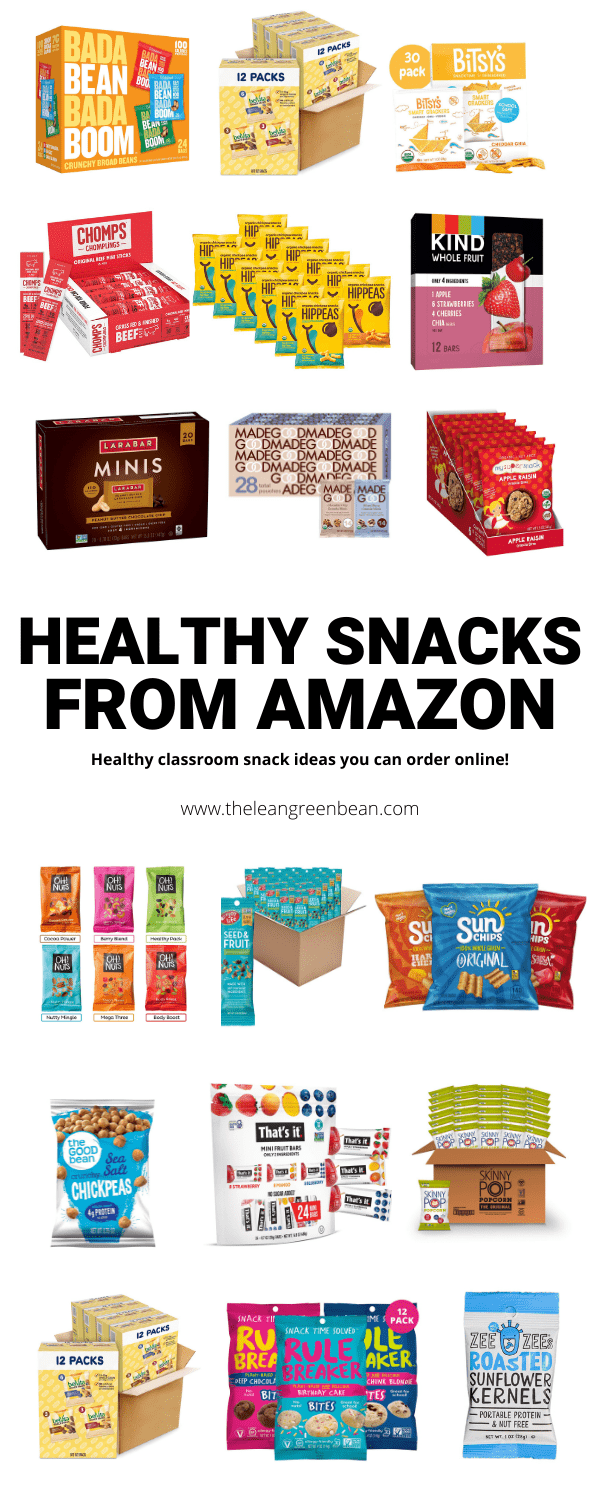 Here are 25+ healthy Amazon snacks. Perfect if you need healthy individually packaged snacks for the classroom, sports teams etc!