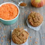 Apple Cinnamon Red Lentil Muffins