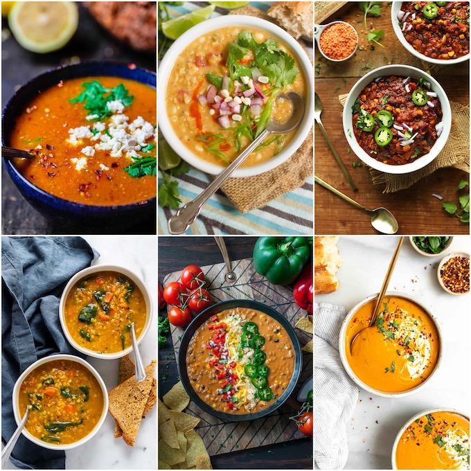 red lentil soup recipes