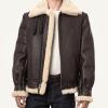 Classic Mens Brown Sheepskin B3 Bomber Jacket