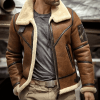 mens flight bomber aviator leather jacket front
