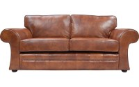 Cavan Real Leather Sofa Bed | UK Handmade Quick Delivery