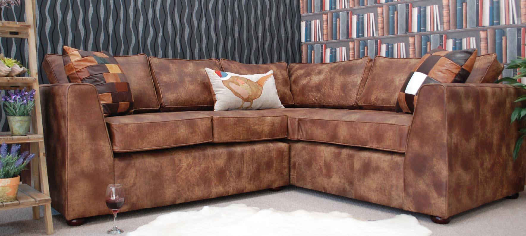 sofa manufacturer uk with one cushion leather shop full grain british made vintage