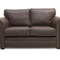 Vintage Leather Sectional Sofa Bed With Ottoman Mayo Large Round Studded Arms Comfy