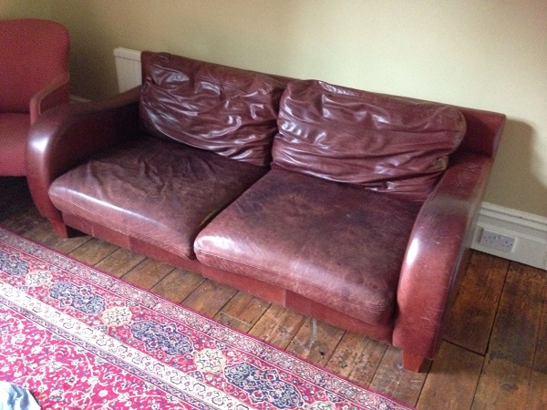 restoring leather sofa colour art sofas removing greasy marks from | the surgeons