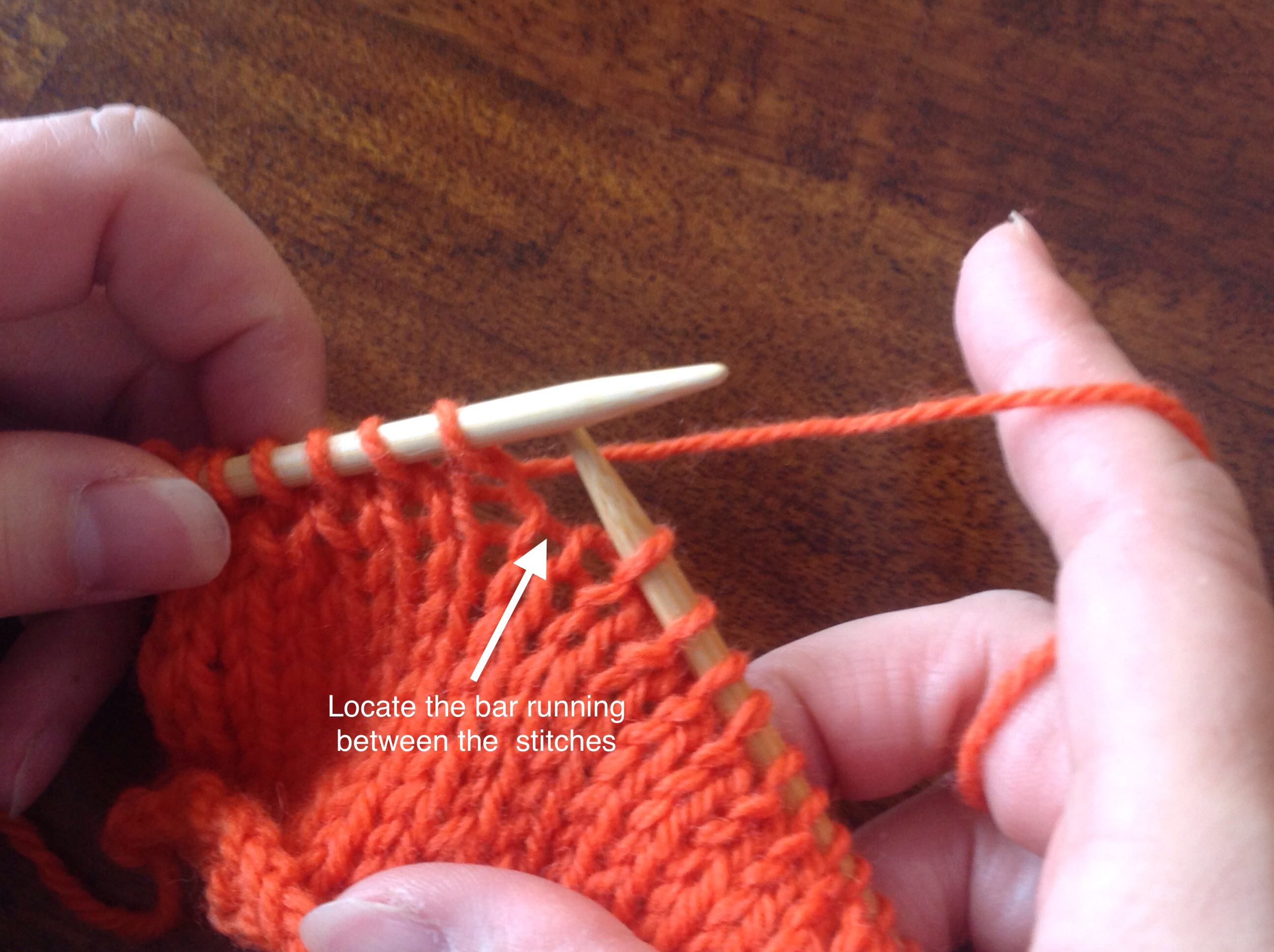 Knitting Increases Left And Right : Left handed m r increase make right the