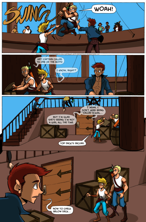 the legend of jamie roberts genderqueer pirate comic, page 16