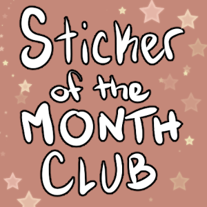 sticker of the month club ad