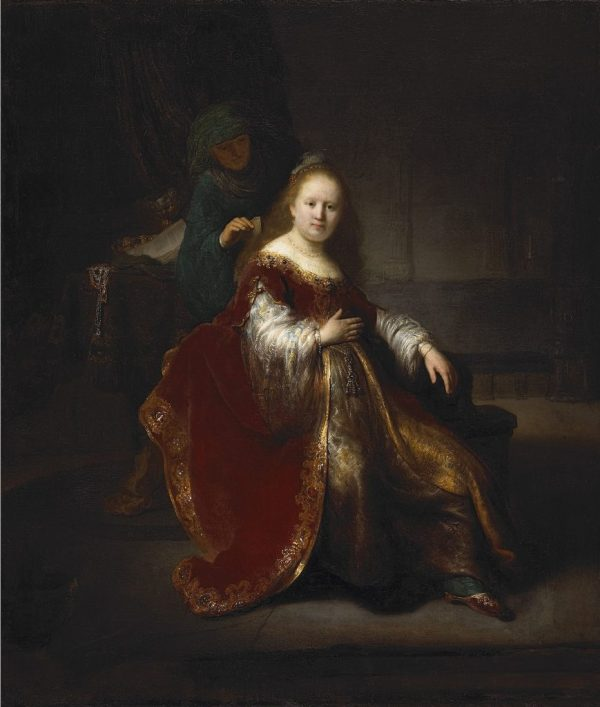Young Girl In Gold-trimmed Cloak - Leiden Collection