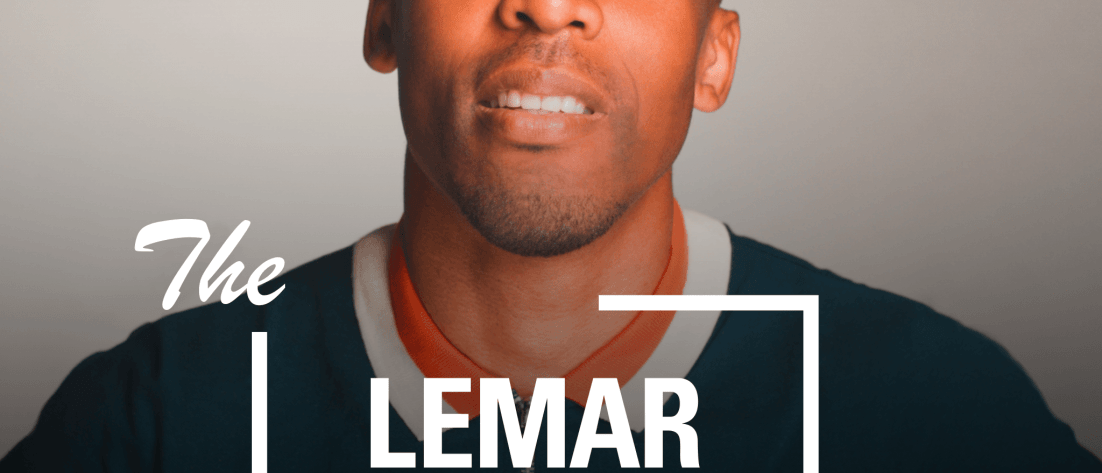 This is the main podcast image for The Lemar Show