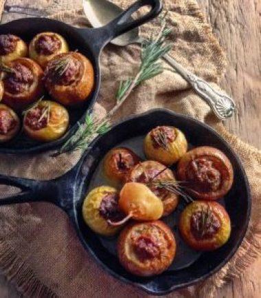 Sausage Stuffed Roasted Apples