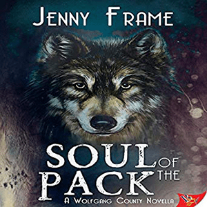 Soul Of The Pack by Jenny Frame is a lovely addition to the Wolfgang County series. It's a novella, so it's a short audiobook but it's absolutely adorable.   Maddox Rippington who everyone calls Ripp is angry, aggressive and strong. She has just lost her job caring for the wolves as Willow Creek Wolf Sanctuary and she is lost and alone in the world. All she has now is a birth certificate with the name Ansel Wolfgang listed as her father. With nothing left to lose she decides to go to Wolfgang County to try and find out what she can about her family.   Kyra Wolfgang is lonely. She is just beginning to wonder if she has to leave her beautiful home in order to find her one true love when she encounters a stranger in the forest. She is in wolf form at the time and the stranger is so gentle and caring that she ends up showing herself to the stranger when she wouldn't normally.   When she meets Ripp again, this time she is human form and the interest is clear. There is something about this stranger that draws her in. Ripp behaves just like a dominant were and yet she is human. Could Ripp be her life mate?  But problems occur when Ripp tries to gain access to the Wolfgang County records and doesn't want to tell them why. The pack starts to wonder if she is working with their rivals in planning another attack on them.   The Characters Kyra is sweet, loving and wants to make a home for her and her life mate. She finds it frustrating that her mated sister keeps trying to thrust rules on her as if she is a teenager just because she is single.  Ripp is angry and frustrated and struggling with deep personal issues that can only be resolved if she allows the pack to help her.  They make a compelling duo. The Writing Style I enjoy the way Jenny Frame writes. Her characters are perfectly suited to one another, never the same and the stories are always fun and unique.  The book was well paced with new and interesting revelations keeping the story moving.  The Narration AJ Ferraro di