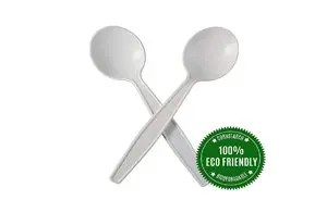 Disposable spoons from corn strach