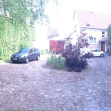 This is the courtyard where we stayed, with the pastor of the Schönebeck church... beautiful old farmhouse in Biere, DE.
