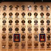Wall of platinum records