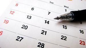 Calendar and Pen