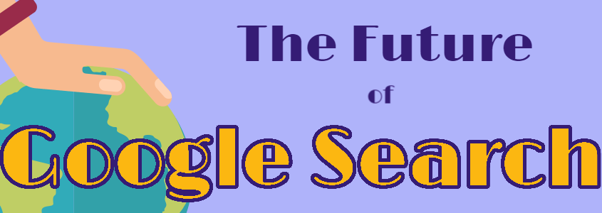 future of google search with hand on earth